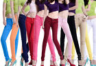 Women Stretch Candy Pencil Pants Casual Slim Fit Skinny Jeans Trousers 11 Color