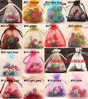 30/100pcs Organza Jewelry Packing Pouch Wedding /Favor Gift Bags Blue/Pink/Red