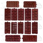 Heart Button Chocolate Cake Ice Soap Cube Jelly Tray Candy Silicone Mold Set DIY