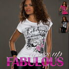 WOMENS TOP Size 8 10 12 NEW SEXY ROCK REBEL QUEEN SHIRT PARTY CASUAL WEAR TOPS