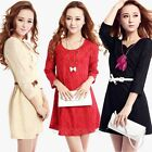 2014 New Casual Women's Sexy Lace Slim Mini Dress Party Cocktail Evening Dress