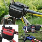 Cycling Bicycle Double Pannier Mountain Frame Front Tube Saddle Bike Bag Pouch