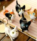 FD760 Sweet Cat Kitten  Keyring Keychain Bell Gift Toy Car Ring Key Chain ~1pc~#