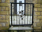 HEAVY DUTY METAL GATE/ WROUGHT IRON/ GARDEN/ MADE TO ORDER/ BLACK GOLD FINISHS