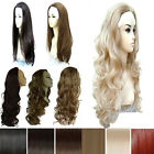 UK Real Thick Synthetic Hair Wig Straight Wavy Curly half Full Wigs Not human