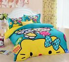 ** Blue Hello Kitty Sisters Single Bed Quilt Cover Set - Flat or Fitted Sheet **