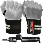 """Weight Lifting Wrist Wraps Gym Workout CossFit Training Straps 18"""" Long MRX 2X"""