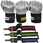 "Power Weight Lifting Wrist Wraps 18"" Long Gym Training Bandages Fitness Straps"
