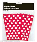 POLKA DOT TREAT BOXES  Pink Green Blue Red Black and Yellow