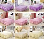 Luxury Romantic Lace Flower Bed Fitted Sheet (Bed Skirt)