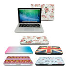 "Slim Patterned RETRO Crystal Cover Case For Apple Macbook Pro / Retina 13"" & 15"""