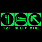 Kids T-Shirt. Eat, Sleep, Mine. Video Games. Youth T-Shirt. From B-Shirts.