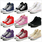 Womens Canvas Lace Up Casual Girls College Running Sneakers Espadrilles Shoes SZ