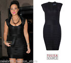 French Connection Black Bandage Ribbon Knits Spotlight Bodycon Party Dress 10 38