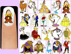60x BEAUTY and the BEAST Nail Art Decals + Free Gems Disney Belle Chip Cogsworth
