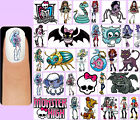60x MONSTER HIGH Nail Art Decals + Free Gems Frankie Stein Draculaura Clawdeen