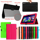 Leather Case Cover for Dell Venue Pro 11 2500 64GB + Wireless Bluetooth Keyboard