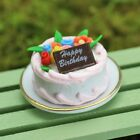 Fairy Garden Miniatures - Fairy Food - Dolls House - Miniature Birthday Cake