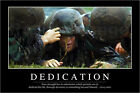 "Poster / Leinwandbild ""Dedication: Inspirational Quote an..."" - StockTrek Images"