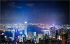 Poster / Leinwandbild Hong Kong view at night - by marin.tomic