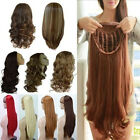 Deluxe Voguish Half Wig Fall Clip In Hair Piece All Kinds Of Colours Pretty Uk