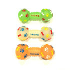 Dog Toy Glows in The Dark Rubber  Puppy Dumbbell Squeak Durable