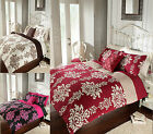 Duvet Quilt Cover With Pillow Cases Pleated Bedding Set Single Double & King