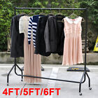 Uk New Heavy Duty Clothes Rails Garment Home Shop Storage Display 4ft 5ft 6ft