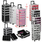 Extra Large 4 in 1 Hairdressing Makeup Vanity Case Beauty Cosmetics Box Trolley