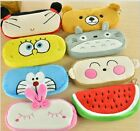 * Pencil Case + 5 Pens * Soft fun plush purse cartoon coin bag animal cute miffy
