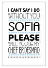 PERSONALISED WILL YOU BE MY BRIDESMAID CARD FLOWER GIRL MAID OF HONOUR NAME