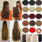 UK Seller Straight Curly Wavy One Piece Clip In On Hair Extensions Real Quality