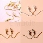 200x Gold/Silver/Bronze Plated Fish Hook Ear Wires Jewelry Making PR