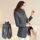 HOT Womens Winter Slim Long Sleeve Jacket Lady's Warm Outwear Parka Trench Coat