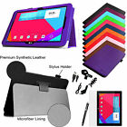 "For LG G Pad 10.1"" V700 Tablet Folio PU Leather Magnetic Case Stand Cover Bundle"