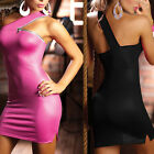 Sexy Lingerie zipper Dress Nightclub Pole Dancing Inclined shoulder Party dress