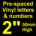 """QTY of: 11 x 2"""" 50mm HIGH STICK-ON  SELF ADHESIVE VINYL LETTERS & NUMBERS"""
