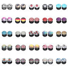 """25 Hot Styles"" 8mm 0g Image Acrylic Screw Fit Flesh Tunnels Black Ear Plugs"