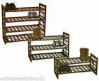 2, 3 or 4 Tier Brown Wooden Criss Cross Shelf Storage Shoe Rack Stand
