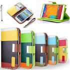 Flip Leather Wallet Stand Case Cover For Samsung Galaxy Note 3/ N9000 S5/i9600