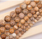 """15"""" strand Natural Round Picture Stone loose gemstone beads, 6/8/10/12/14mm"""