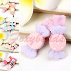 Pair Cute Resin Bows Candy Colors Bady Kids Girl Hair Alligator Clip Hairpin FB