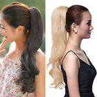 Claw Clip Long Ponytail Pony Tail Hair Extension Hair Piece Wavy Style Free Clip