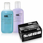 GELLUX Gel Nail Polish REMOVER & PREP + WIPE Pre Post Ap Cleanser, Wraps Options