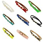 Fashion Bow Candy Color Alloy Charms Skinny Buckle Leather Waist Belt Waistband