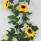 GREAAT Artificial Fake Silk Rose Flower Ivy Vine Hanging Garland Wedding Decor