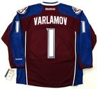 SEMYON VARLAMOV COLORADO AVALANCHE REEBOK PREMIER HOME JERSEY NEW WITH TAGS