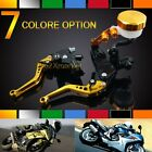CNC Universal Motorcycle ALUMINUM FRONT Clutch BRAKE LEVERS FLUID RESERVOIR