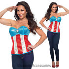 CL12 Sequined Superhero Hero Corset Bustier Top Women Fancy Halloween Costume