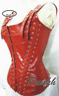 Body Shaper Cracodile Look Overbust Steel Boned Genuine Cow Leather Corset 9015C